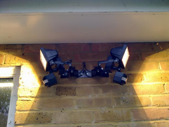 Smd electrical services garden security lighting security light installed above shed whichlocalg securitylightsonadjustableangledbracketsg aloadofball Choice Image